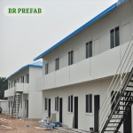 prefab Steel Building Real Estate House hot Sale slope roof a