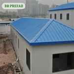 Residential condominiums prefab house of steel frame and sandwich panel